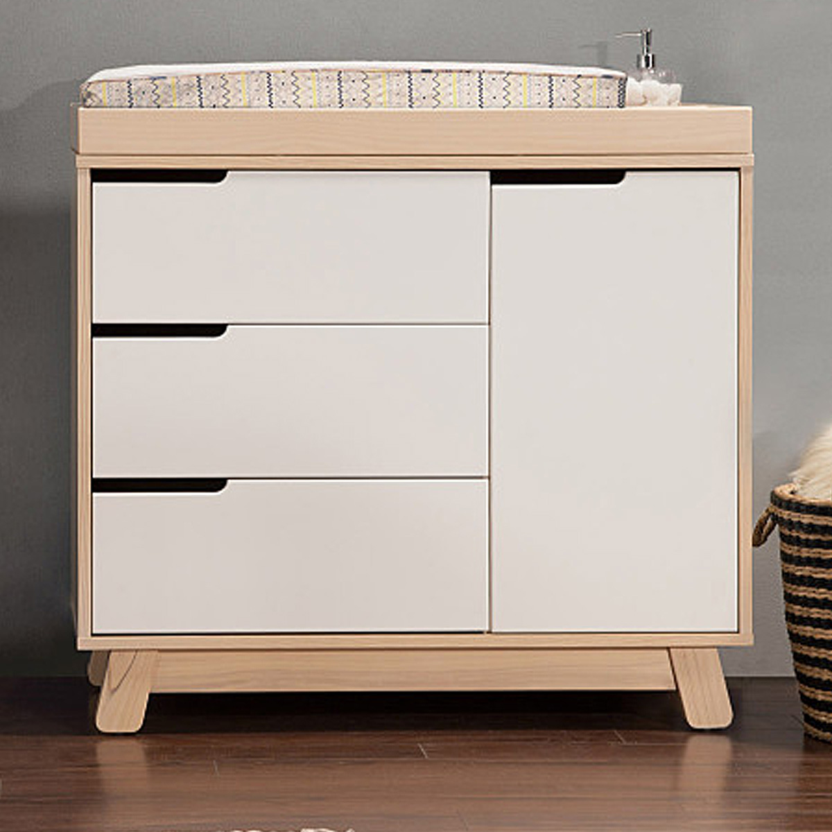 modern baby changing table nursery room