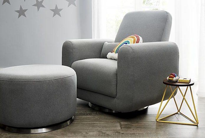 modern rocking chair nursery room