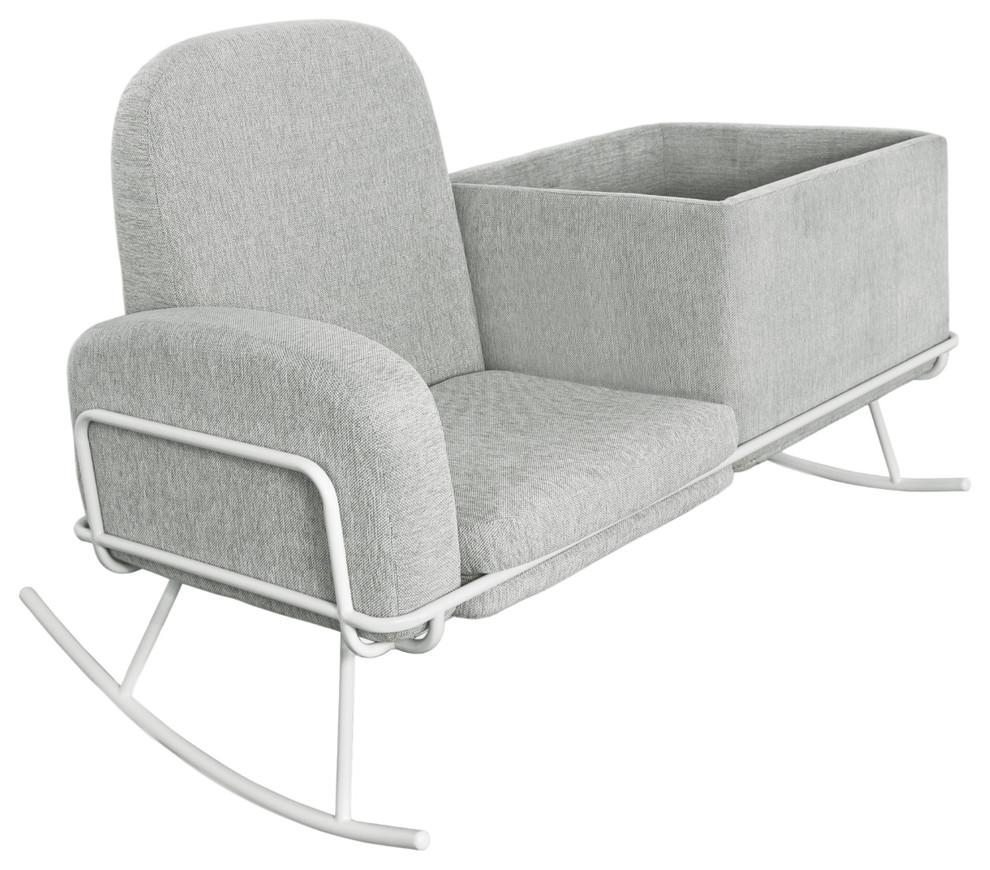 rocking chair nursery bassinet rocker