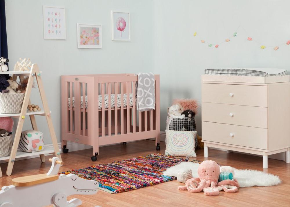 modern pink baby crib nursery furniture