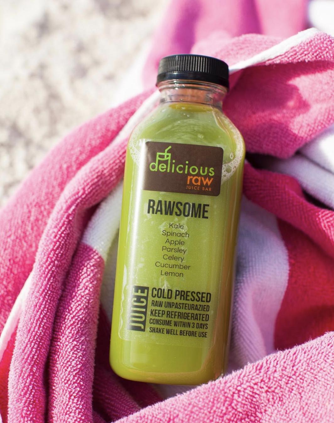 Delicious Raw sunset harbour juice miami